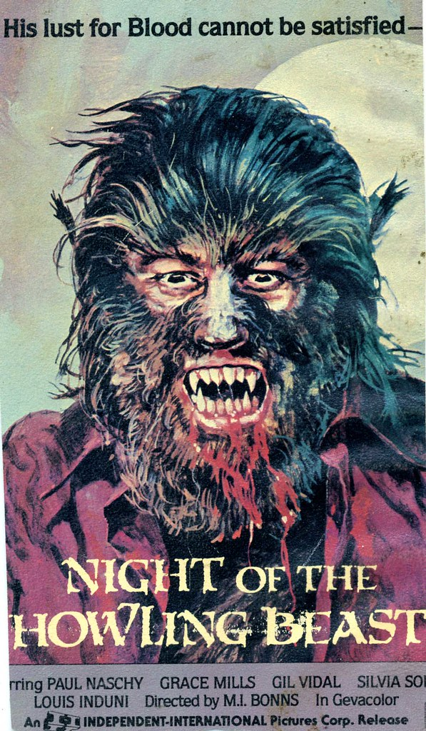 Night of the Howling Beast (VHS Box Art)