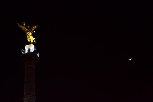 Angel de la independencia nocturno