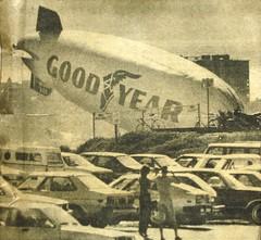 Goodyear Blimp over Nude Beach (Smile Moon) Tags: california sandiego columbia 1984 blimp airship goodyear dirigible blacksbeach nudebeach peepingtom hartfordcourant n4a