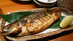 Grilled Fish (Sanctu) Tags: sea food fish cooking asian cuisine japanese restaurant fry marine singapore meat grill meal seafood dining bone local rib aquatic grilled fried protein northasian