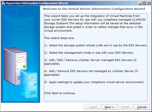vSphere Integration With EMC Unisphere » boche net – VMware vEvangelist