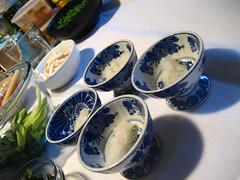 Bowls of daikon