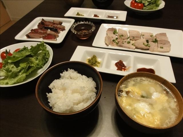 2011年4月3日 夕食(茹で豚)