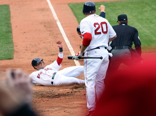 Pedroia's slide into home 2
