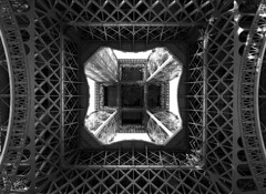 La Tour Eiffel [Explored] (Abdulrahman BinSlmah) Tags: trip white abstract black paris tower ed nikon eiffel april nikkor afs d300 f28g abdulrahman 1424mm
