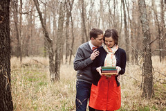 more book love (crystal.franks) Tags: cute love vintage outside outdoors engagement woods couple picnic affection adorable books embrace esession