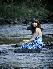 Marissa (Jacqs.co.uk) Tags: marissa jacquelineallott riverdon river water blue dress bluedress girl woman female portrait portraiture people person face smile eyes hair mouth nose rocks