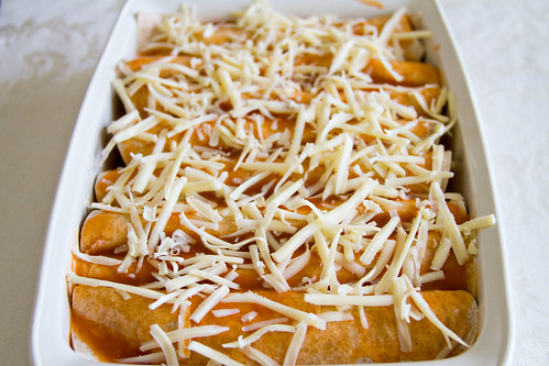 Beef and Bean Enchiladas - 4