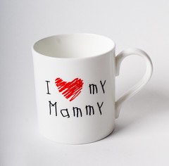 I love my Mammy mug (Ceramics for Everyone) Tags: red wales mugs font welsh crayon serving tableware childrenswriting ceramicsforeveryone gifeveryone