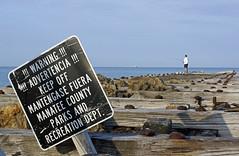 _DSC0046 (Jake_Monteith) Tags: warning pier fisherman dock funny jetty sony bradenton bradentonbeach a550