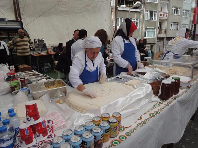 Preparacao de Gozleme em Istambul