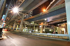 Tanimachi Junction - 03 (Kabacchi) Tags: night tokyo highway  nightview expressway  interchange      jct tanimachijunction ~tanimachijunction~