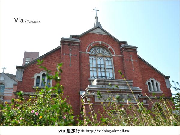 【台中景點】柳原教堂~百年歷史風華教堂,新人婚拍最愛!26