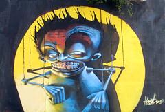 Puppeteer (Fat Heat .hu) Tags: big mural puppet character fat budapest heat spraycanart graffitiart cfs coloredeffects fatheat rolup