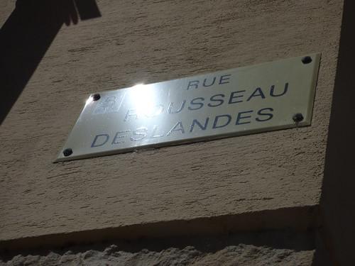 Rue Rousseau Deslandes, Beaune - road sign