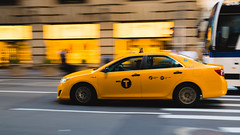 Taxi driving through NYC (Kai Pilger) Tags: newyork usa car movement driving fast city street road vehicle avenue travel taxi yellow america asphalt traffic drive pavement manhattan midtown