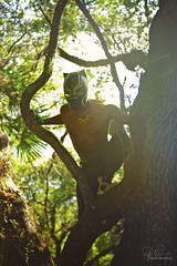 Black Panther 2 (Philip Bonneau) Tags: blackpanther marvel comicbook comicbookcharacter superhero hero blackman africanamerican tree treeclimbing leaves dramaticlighting shirtless muscles mask