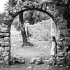 Exploring the Ruins of Olimpia, Turkey. (icarium82) Tags: portrait bnw blackandwhite bw child children archeology turkey olimpos olympos arch ruins lykia lycia history