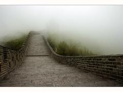 Final (Kaj Bjurman) Tags: china trees white mist fog stone wall eos chinese beijing hdr kaj c4 photomatix bjurman
