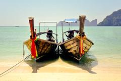 Phi Phi Don (Azlie Ari Allias) Tags: sea beach thailand boats lumix ships panasonic krabi phiphiisland sampan fz50 bambooisland mayabeach railaybeach chickenisland podaisland marinapier 4islandtour andamanjewels