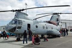Boeing Vertol CH-46 Sea Knight (orange27) Tags: california unitedstates aircraft airshow helicopter northamerica sancarlos hilleraviationmuseum ch46seaknight transporthelicopter boeingvertolch46seaknight verticalchallengeairshow