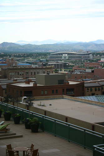 View from Hotel, Denver and the Mountains