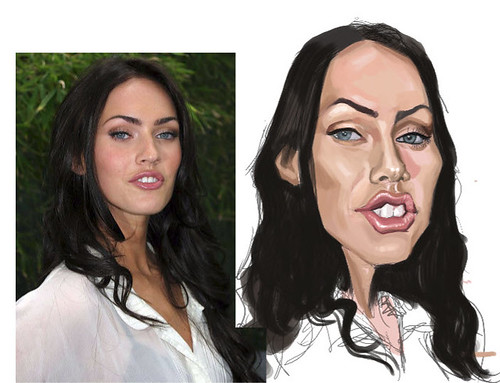 digital caricature of Megan Fox 2 - 1 small