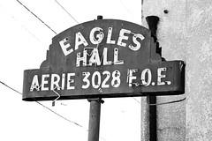 Eagles Hall (Thomas Hawk) Tags: california bw usa america neon unitedstates unitedstatesofamerica eastbay eagles sanpablo eagleshall