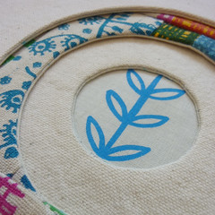 porthole quilt block (lusummers) Tags: colour circle quilt fabric porthole round screenprinted