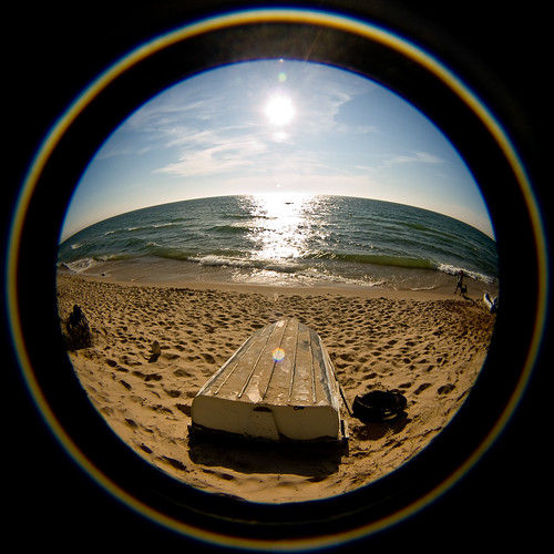 30 Days of Creativity - Day 28: Lake Michigan Fisheye