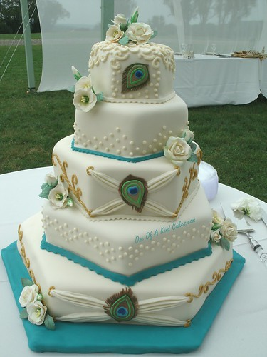 Peacock Wedding Cake by One Of A Kind Cakes