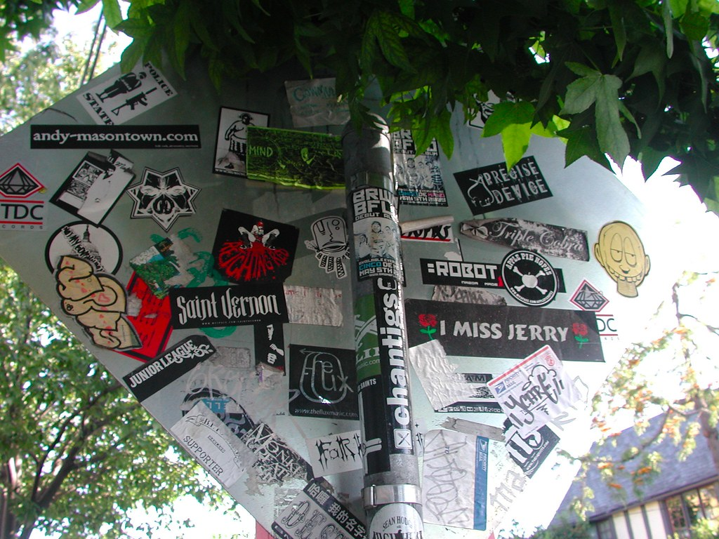 Crushed, Street Art, Stickers, Graffiti, Berkeley