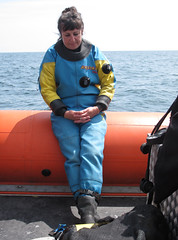 sleepy diver (squeezemonkey) Tags: boat diver drysuit anglesey ukdiving holborndiver questdiving