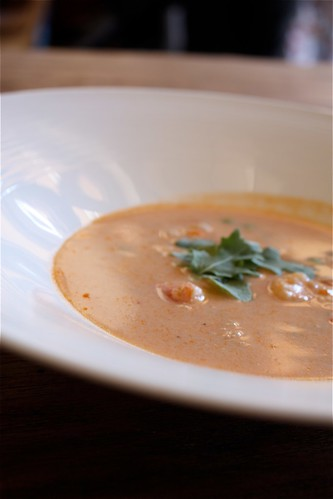 Lobster Pea Bisque with Coconut Milk