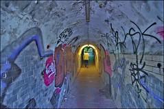 Subterranean Homesick Blues (/Reality Scanner/) Tags: old germany walking deutschland photography emotion pentax alt hamburg blues atmosphere tunnel walker instant environment lonely feeling subterranean spaziergang einsam umwelt k7 unterirdisch spaziergänger nienstedten elbuferweg