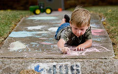Little_kid_down_the_road_chalk_sidewalk__abstr...