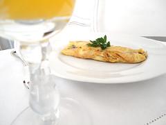omelete com trufas negras