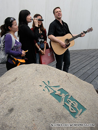 Finnish musicians with two random Chinese photo hunters