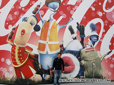 Me against the giant Coca-Cola mural
