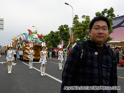 Me at the front of the parade