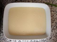 Silken tofu (from tofu mix) (kattebelletje) Tags: tofu  doufu tofumix tofukit