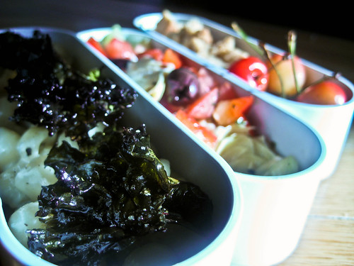 6-30-10 Blue Cheese Shells and Kale Chips