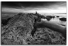 Rocky :: HDR :: BW (servalpe) Tags: sunset bw white seascape black blanco marina canon atardecer venus negro sigma playa bn 1020 hdr marbella sigma1020mm rompeolas espigon eos450d mywinners servalpe bajadilla wakebreaker