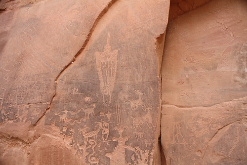 Petroglyphs at Moonflower campground