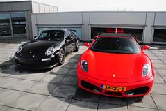 GT3 + F430 (Martijn Beekmans) Tags: auto car spider nikon ferrari porsche mk2 centrum vr f430 mkii gt3 997 d90 1685 heteren