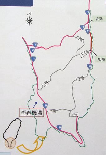 台9線與26線示意圖,台9線才是東部發展的關鍵;圖片來源:苦勞網陳寧文章,交通部公路總局