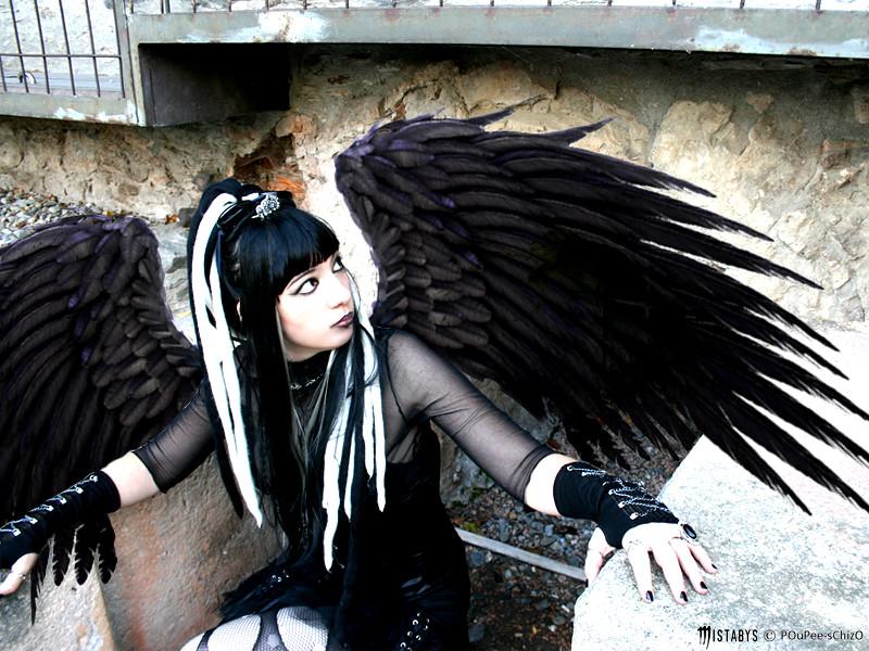 black angel - goth girl
