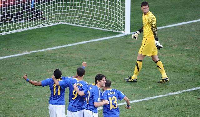 Brasil versus Holanda foto