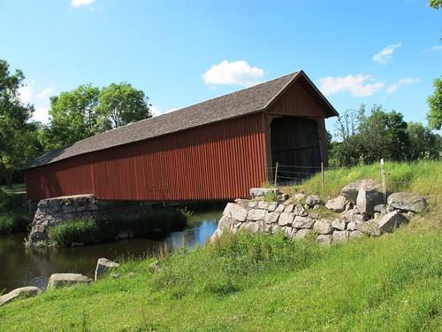 Vaholm covered bridge at Tidan in Sweden #2