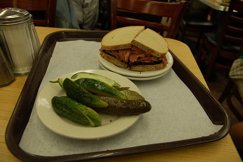 Pastrami Sandwich & Pickles